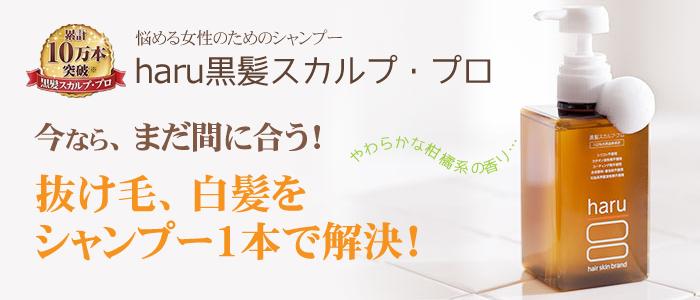 haru黒髪スカルプシャンプーの公式サイトはこちら